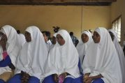 Somali students attend a class session. Somalia's Ministry of education, through the help of the Global Education Fund, is now training primary and secondary school teachers to improve the quality of education for its students.