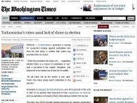 Turkmenistans voters assail lack of choice in election-WashingtonTimes