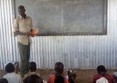 Teacher at a Kenyan Refugee camp gets some needed support